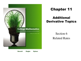 Chapter 11 Additional Derivative Topics