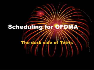 Scheduling for OFDMA