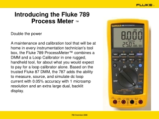 Introducing the Fluke 789 Process Meter  ™