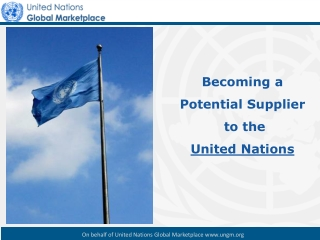 UNGM, the UN procurement portal: Background & Definition New UNGM website –  ungm