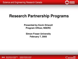 Research Partnership Programs