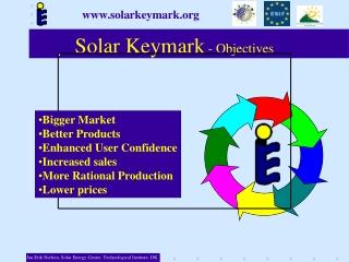 Solar Keymark  - Objectives
