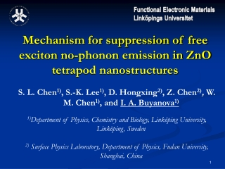 Mechanism for suppression of free exciton no-phonon emission in ZnO tetrapod nanostructures