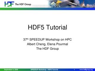 HDF5 Tutorial