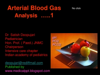 Arterial Blood Gas  Analysis   …..1
