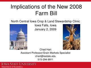 Implications of the New 2008 Farm Bill