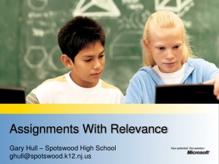 Assignments With Relevance