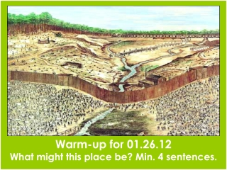 Warm-up for 01.26.12 What might this place be? Min. 4 sentences.