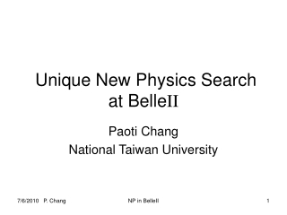Unique New Physics Search at Belle II