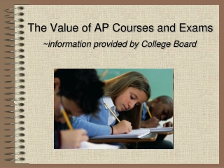 The Value of AP Courses and Exams