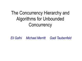 The Concurrency Hierarchy and Algorithms for Unbounded Concurrency