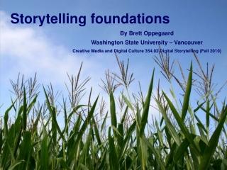 Storytelling foundations