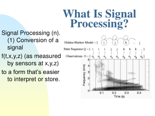What Is Signal Processing?
