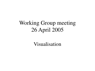 Working Group meeting 26 April 2005