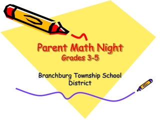 Parent Math Night Grades 3-5