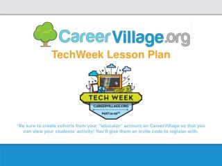 TechWeek Lesson Plan