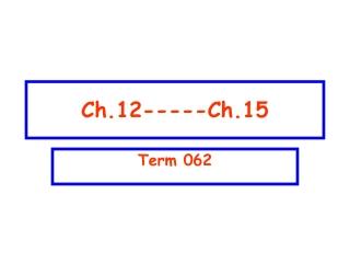 Ch.12-----Ch.15