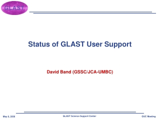 Status of GLAST User Support