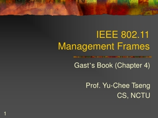 IEEE 802.11 Management Frames