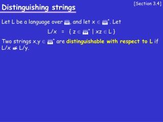 Distinguishing strings
