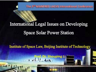 International Legal Issues on Developing Space Solar Power Station