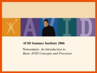 AVID Summer Institute 2006 Newcomers:  An Introduction to  Basic AVID Concepts and Processes
