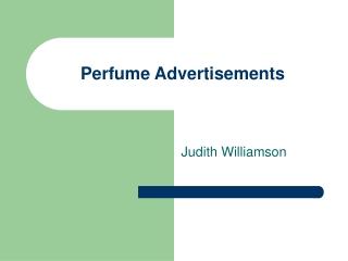 Perfume Advertisements