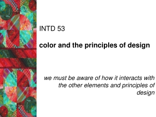 INTD 53 color and the principles of design