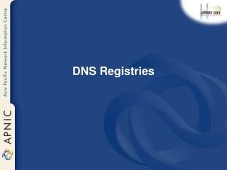 DNS Registries