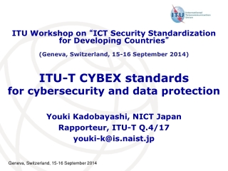 ITU-T CYBEX standards for cybersecurity and data protection