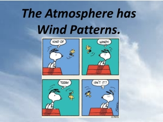 The Atmosphere has Wind Patterns.