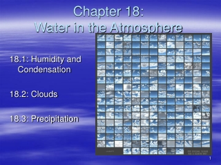 Chapter 18:  Water in the Atmosphere