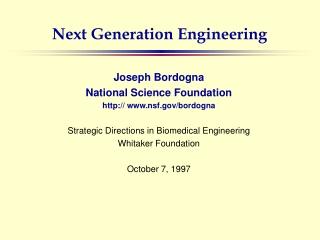 Next Generation Engineering