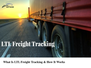 What Is LTL Freight Tracking & How It Works