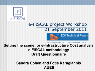 e-FISCAL  project Workshop  21 September  2011