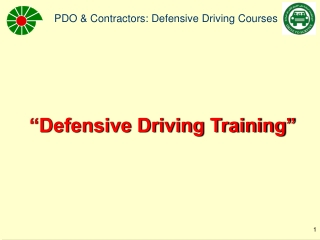 """""""Defensive Driving Training"""""""