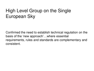 High Level Group on the Single European Sky