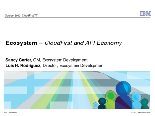 October 2013, CloudFirst TT
