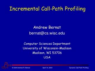 Incremental Call-Path Profiling