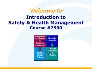 Welcome to Introduction to  Safety & Health Management Course #7500