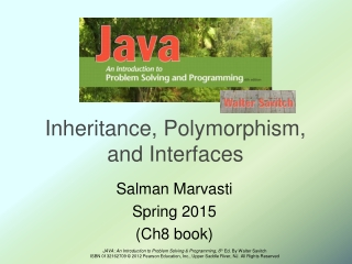 Inheritance, Polymorphism, and Interfaces