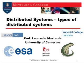Prof. Leonardo Mostarda University of Camerino