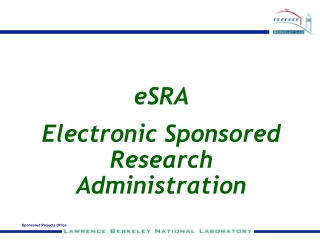 eSRA Electronic Sponsored Research Administration