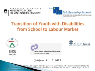 Transition  of Youth  w ith  Disabilities from School to L abour Market
