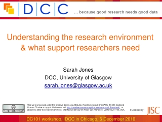 Understanding the research environment & what support researchers need
