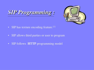 S IP  Programming  :