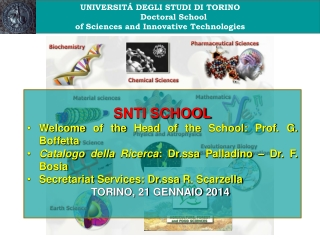 UNIVERSIT Á DEGLI STUDI DI TORINO Doctoral School  of Sciences and Innovative Technologies