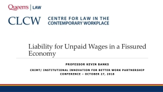 Liability for Unpaid Wages in a Fissured Economy