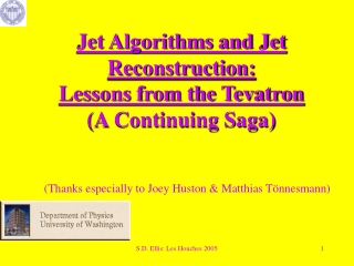 Jet Algorithms and Jet Reconstruction: Lessons from the Tevatron (A Continuing Saga)