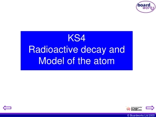 KS4  Radioactive decay and Model of the atom